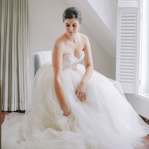 Bride in Maggie Sottero Wedding Ballgown