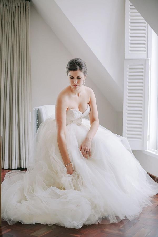 Bride in Maggie Sottero Wedding Ballgown