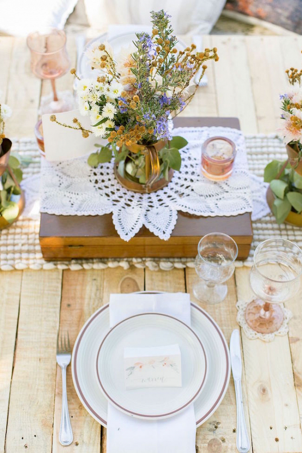 Boho Meets Vintage Place Setting
