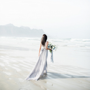Bride on Cape Town Beach