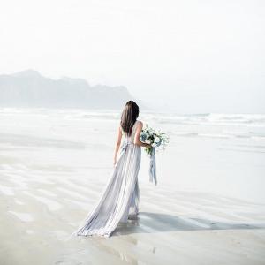Bride on Cape Town Beach