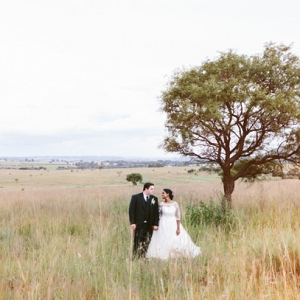Bride & Groom in South African Landscape