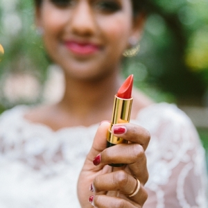 Bride with Lipstick