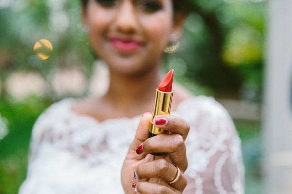 Bride with Lipstick