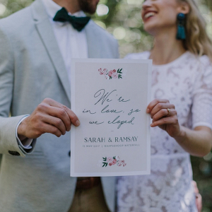 Elopement Announcement
