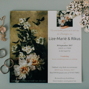 Botanical Print Wedding Invitation