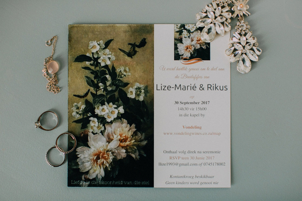 Botanical Print Wedding Invitation