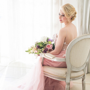 Pink Butterfly Wedding Dress