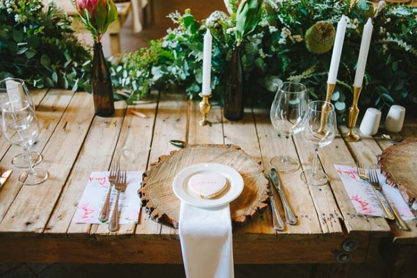 Place Setting with Heart Cookie Favor