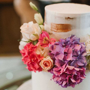 Wedding Cake with Floral Decoration