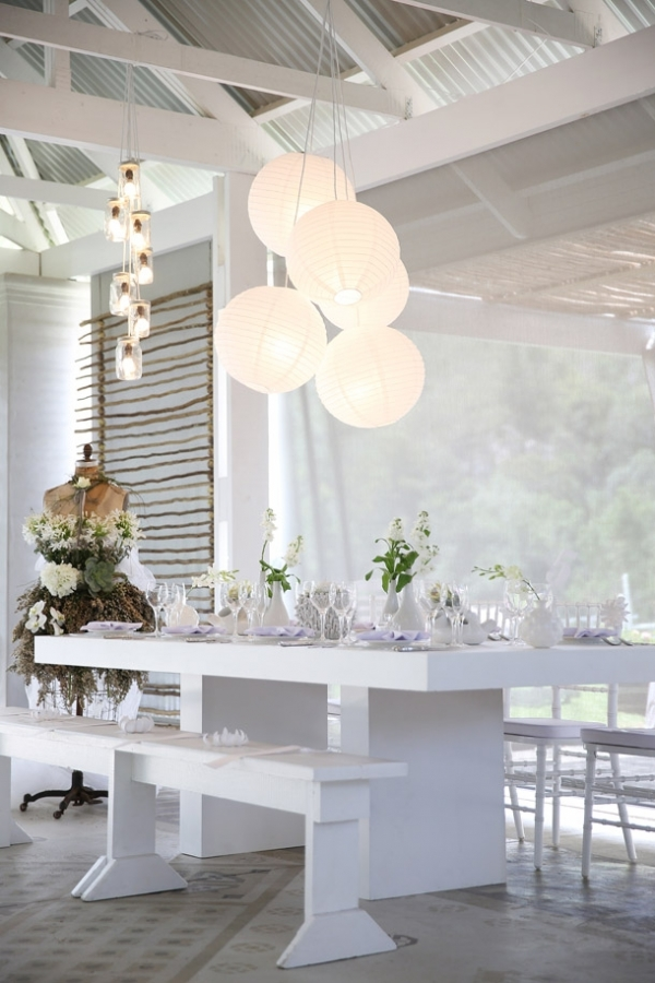 Whimsical modern white table