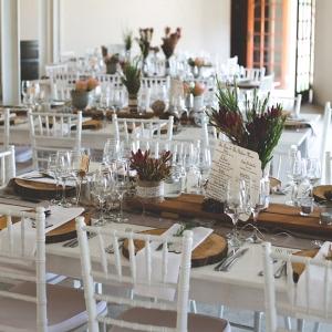 Rustic Elegant Reception Tables