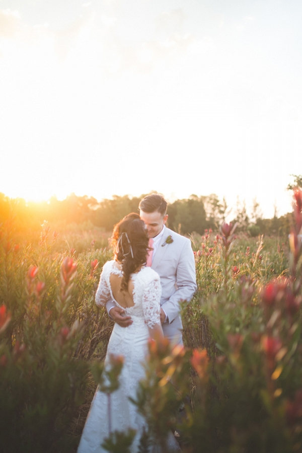 Bride & Groom at Protea Farm