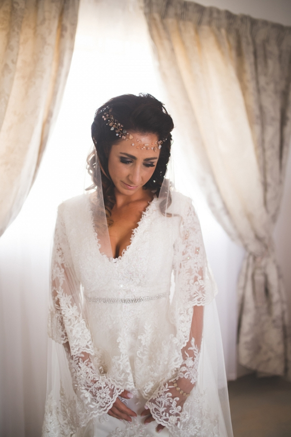 Boho Bride in Lace Dress