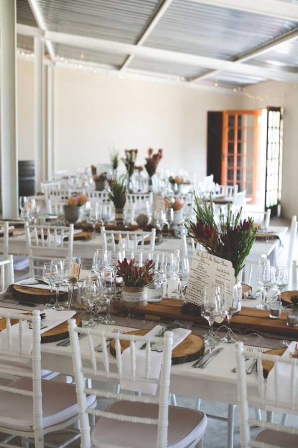 Rustic Elegant Reception Tables