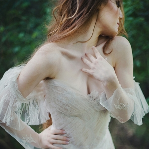 Ethereal Off Shoulder Wedding Dress
