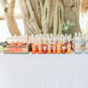 Rustic lemonade bar