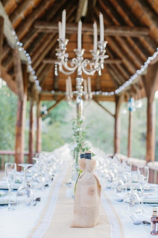 Rustic elegant tablescape