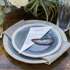 Agate place setting