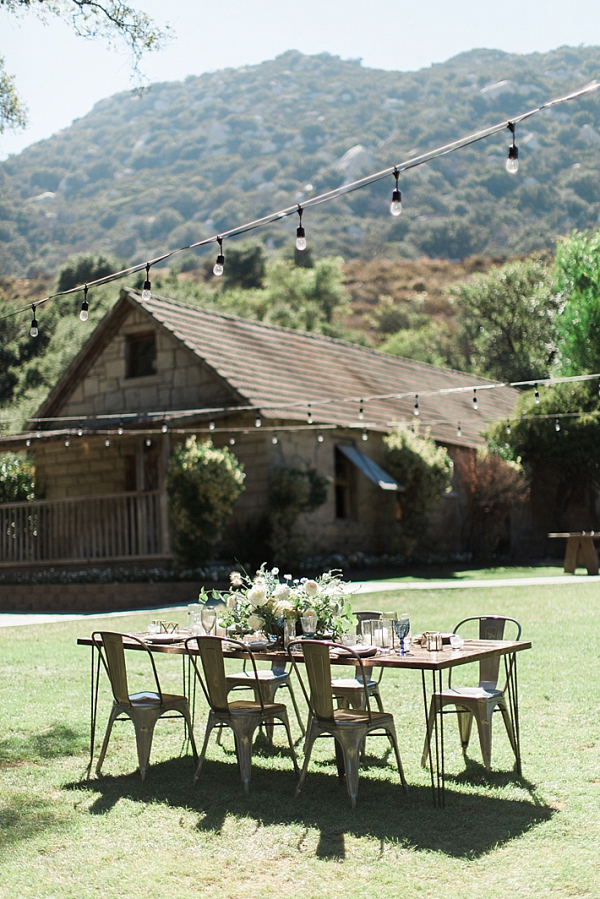Modern rustic reception