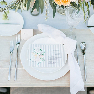 Pastel spring place setting
