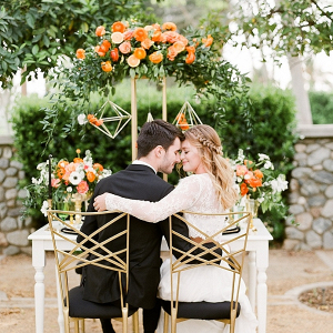 Citrus inspired wedding