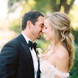 Romantic Malibu wedding portrait
