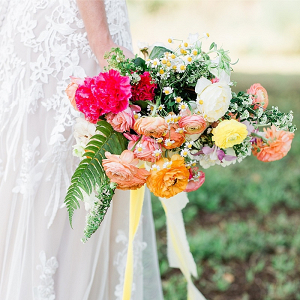 Bright floral bridal bouquet