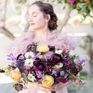 Lush purple bridal bouquet