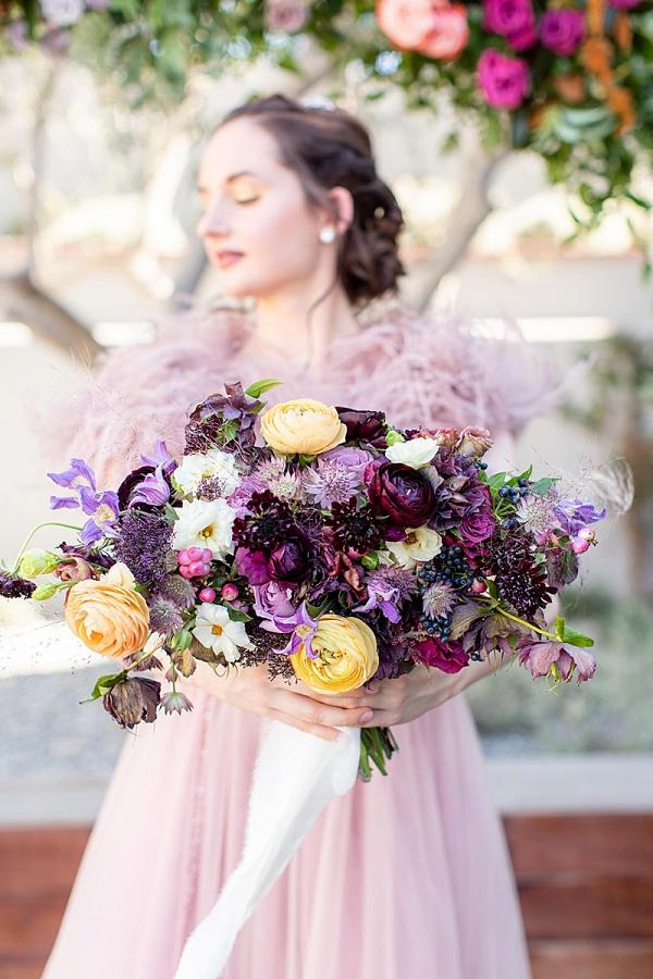 Lush purple bridal bouquet
