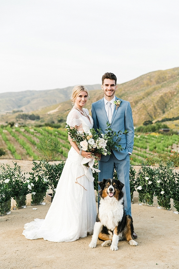 Ranch Wedding overlooking vineyard