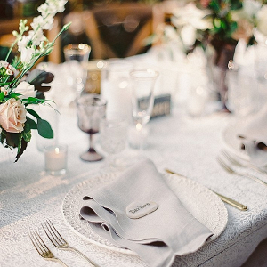 Neutral hued place setting