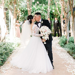 Fairytale wedding ceremony