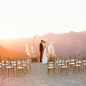 Epic sunset wedding ceremony
