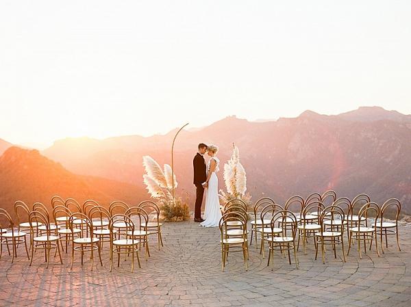 Epic sunset wedding ceremony