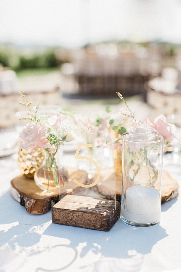 Romantic rustic centerpiece