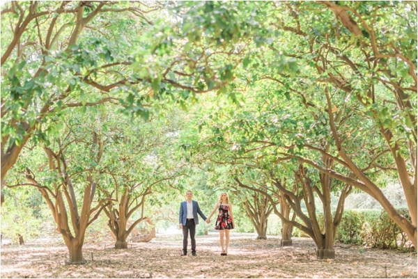Engagement Session in a grove of trees