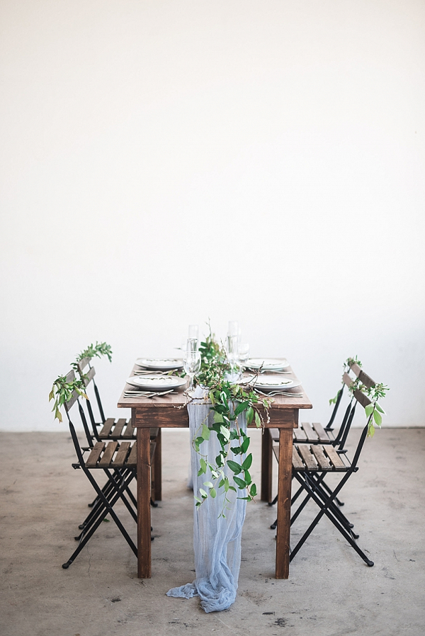 Farm house reception table