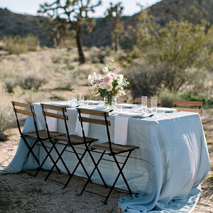 Outdoor desert wedding table