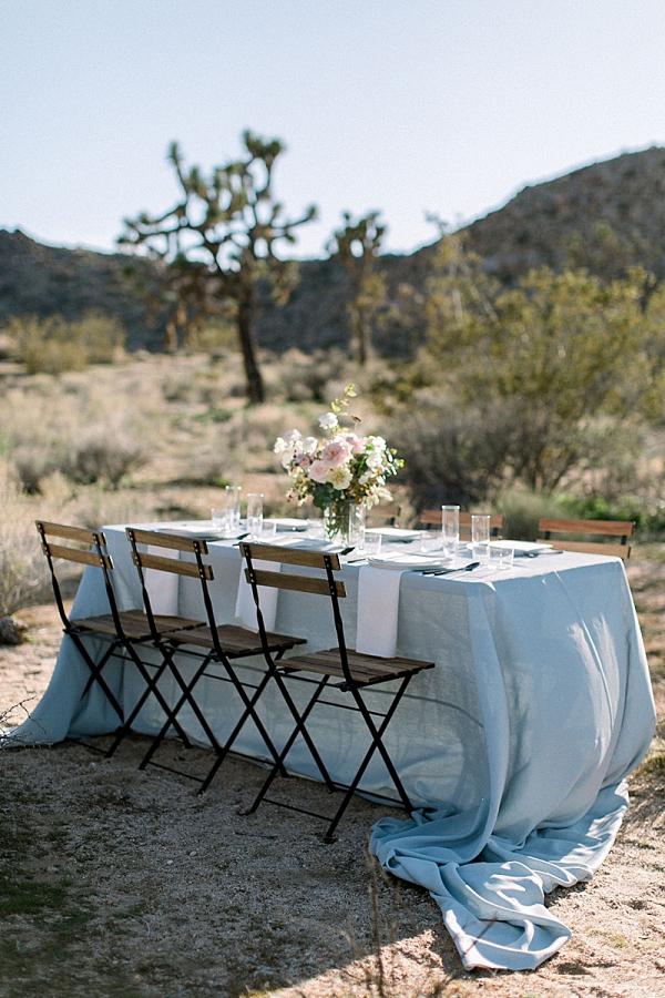 Outdoor desert wedding table