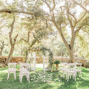 Ethereal garden wedding ceremony