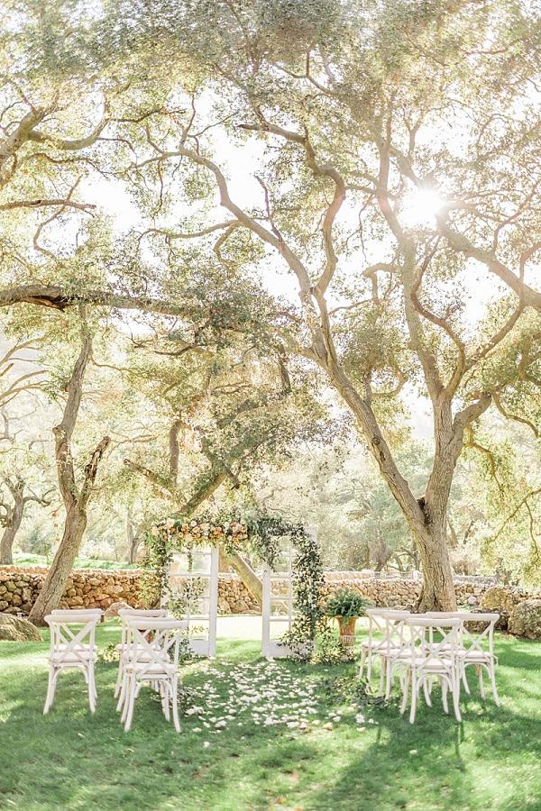 Ethereal garden wedding ceremony