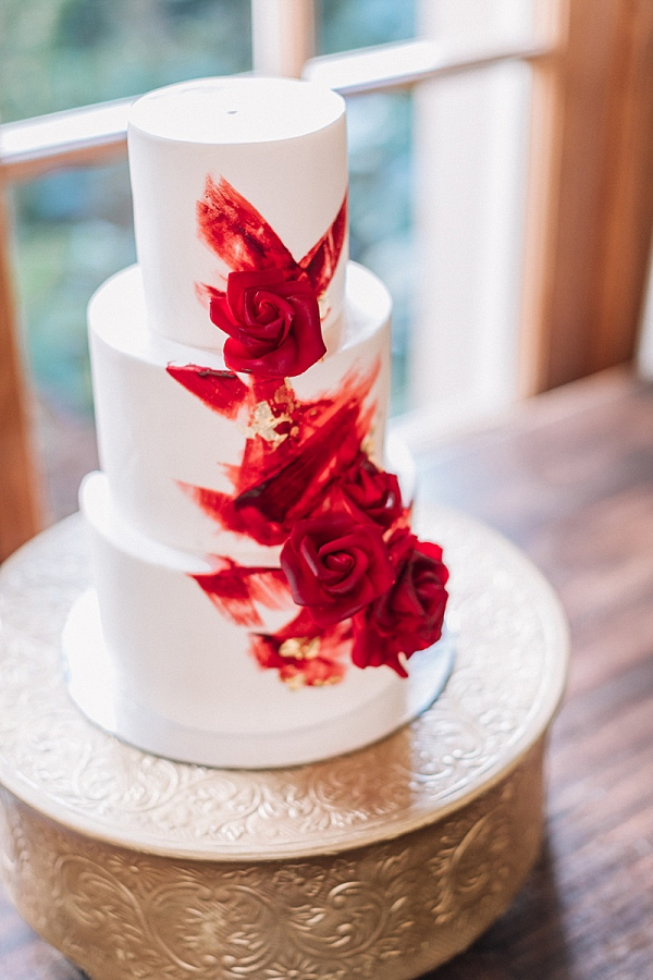 Modern painted wedding cakes