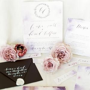 Organic Calligraphy Wedding Invitation