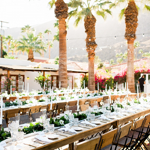 Palm Spring wedding reception