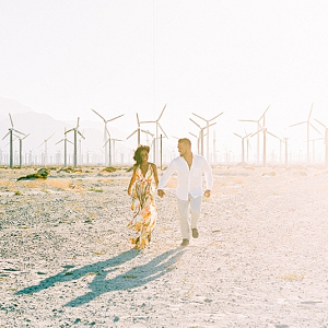 Chic Palm Springs engagement session