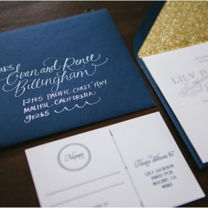 Nautical Wedding Inspiration with Calligraphy
