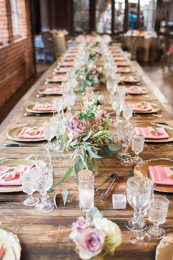 Long reception table