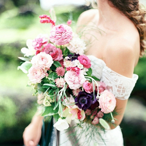 Pink and plum bouquet