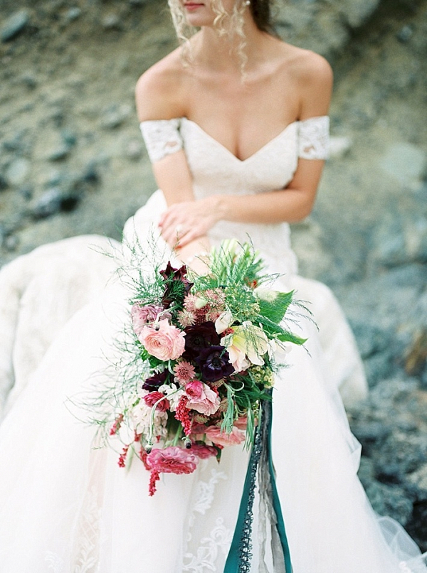 Lush deep plum and pink bouquet